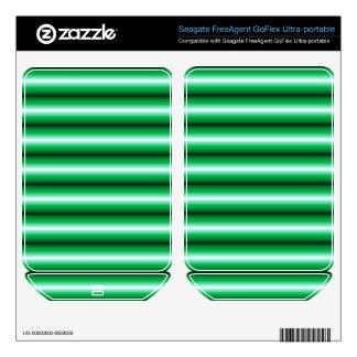 Green and black line Pattern FreeAgent GoFlex Decal