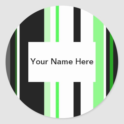 Green And Black Lines Sticker