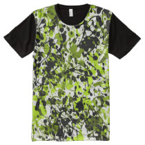 Green and Black Microgreens All-Over-Print Shirt
