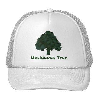 Green and Black Mottled Tree Silhouette Trucker Hat
