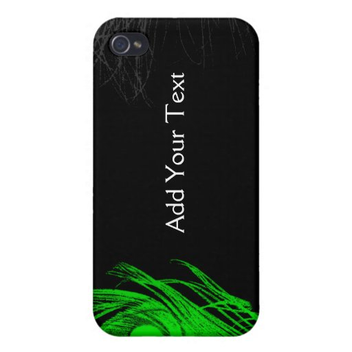Green and Black Peacock Covers For iPhone 4