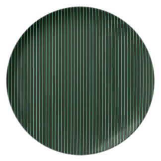 Green and Black Pinstripe Plate