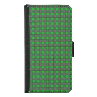 Green and Black Plaid Check S5 Wallet Case