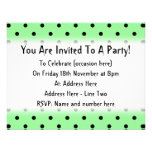 Green and Black Polka Dot Pattern. Announcements