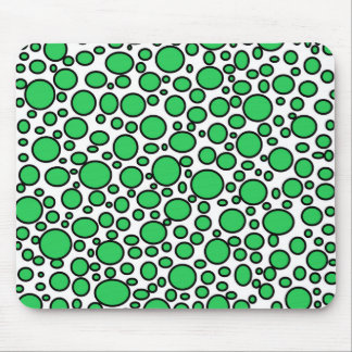 Green and Black Polka Dots Mousepad