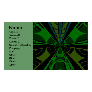 Green and black rectangle design business card template