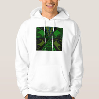 Green and black rectangle design hoodie