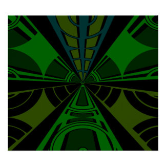 Green and black rectangle design poster