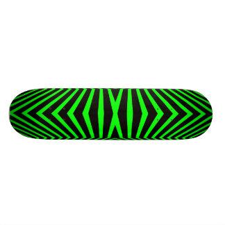 GREEN AND BLACK RETRO SKATEBOARD