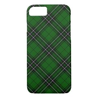 Green and Black Scottish Clan MacLean Tartan iPhone 7 Case