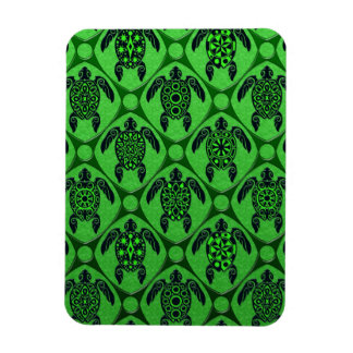 Green and Black Sea Turtle Pattern Magnet