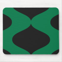 Green and Black Smooch Mouse Pad