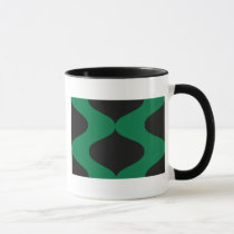 Green and Black Smooch Mug
