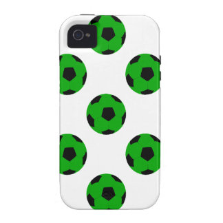 Green and Black Soccer Ball Pattern iPhone 4 Covers