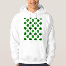 Green and Black Soccer Ball Pattern Hoodie