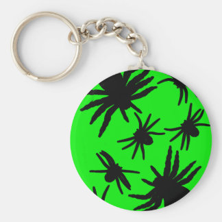 Green and Black Spiders Key Chains