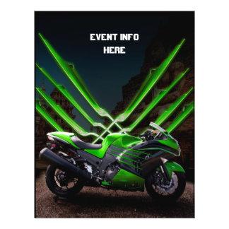 Green and Black sport bike Flyer