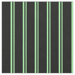 [ Thumbnail: Green and Black Striped Pattern Fabric ]