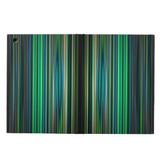 Green and black striped pattern iPad air cover