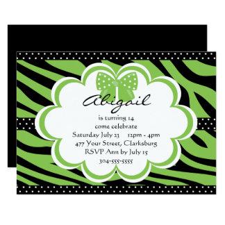 Green and Black Tiger Print Card