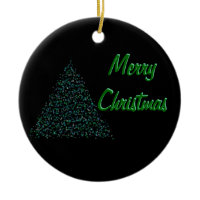 Green and Black Tree ornament
