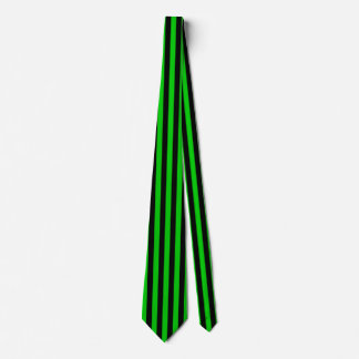 Green and Black Vertical Stripes Tie