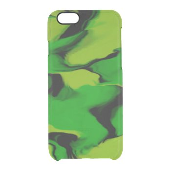 Green and Black Wavy Clear iPhone 6/6S Case