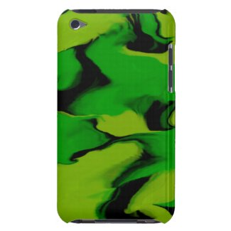 Green and Black Wavy Design iPod Touch Case