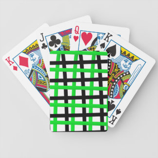 Green and Black Wrap Around Bicycle Playing Cards