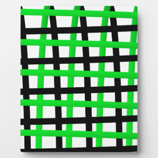 Green and Black Wrap Around Plaque