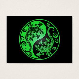 Green and Black Yin Yang Geckos Business Card