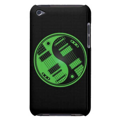 Green and Black Yin Yang Guitars Barely There iPod Cover