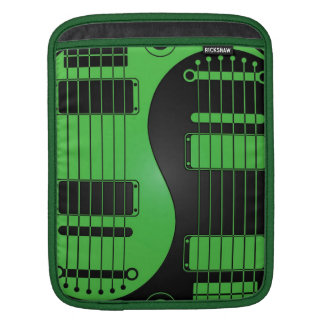 Green and Black Yin Yang Guitars Sleeve For iPads