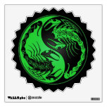 Green and Black Yin Yang Scorpions Wall Graphic
