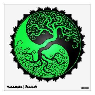 Green and Black Yin Yang Tree Room Decal