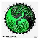 Green and Black Yin Yang Tree Wall Decal