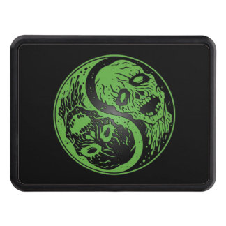 Green and Black Yin Yang Zombies Hitch Cover