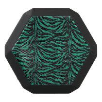 Green and Black Zebra Animal Print Speaker