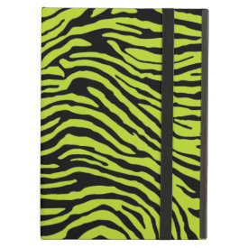 green and black zebra stripe powis ipad  case iPad cover