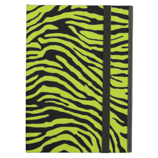 green and black zebra stripe powis ipad  case