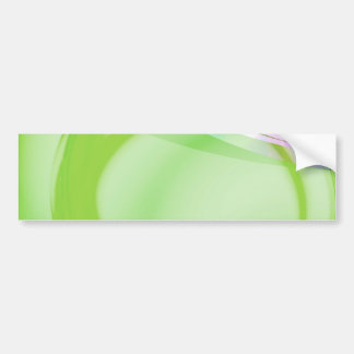 Green and Blue Abstract Design Bumper Sticker