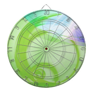 Green and Blue Abstract Design Dart Board