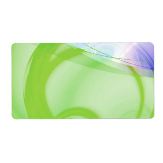 Green and Blue Abstract Design Shipping Label