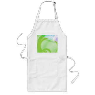Green and Blue Abstract Design Long Apron