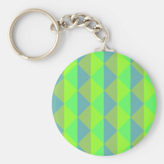 GREEN AND BLUE ABSTRACT KEYCHAIN