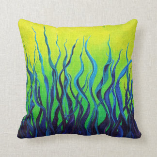Green and Blue Accent Pillow