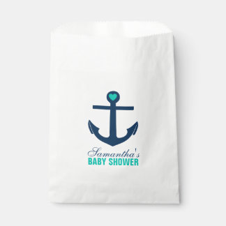 Green and Blue Anchor Favor Bag