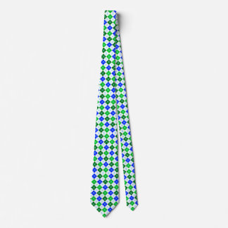 Green and Blue Argyle Custom Tie