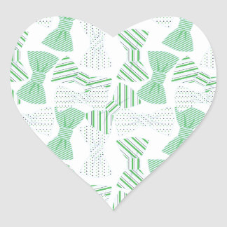 Green and Blue Bow Tie Design BOWTIES Heart Sticker