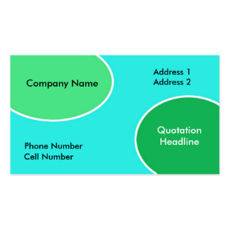 Green and Blue Bubbles Business Card